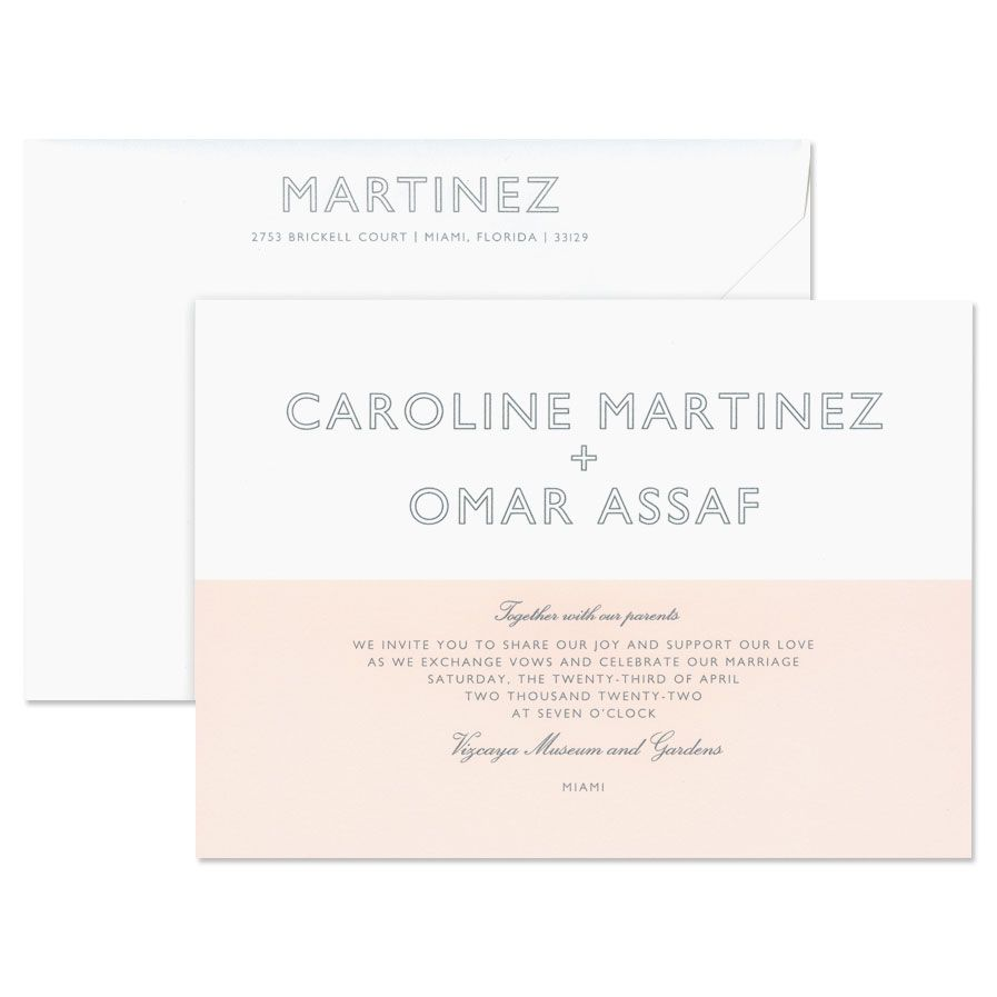Colorblock Invitation