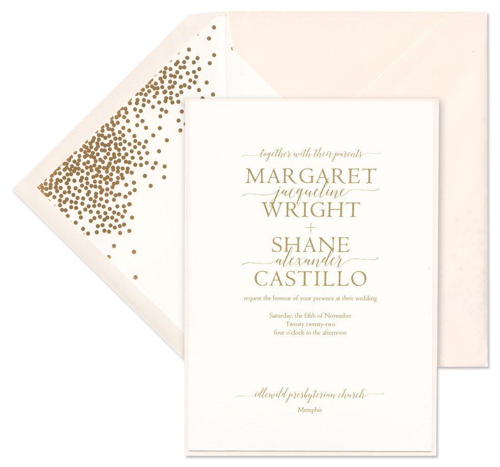 Blush Card with Layer Invitation