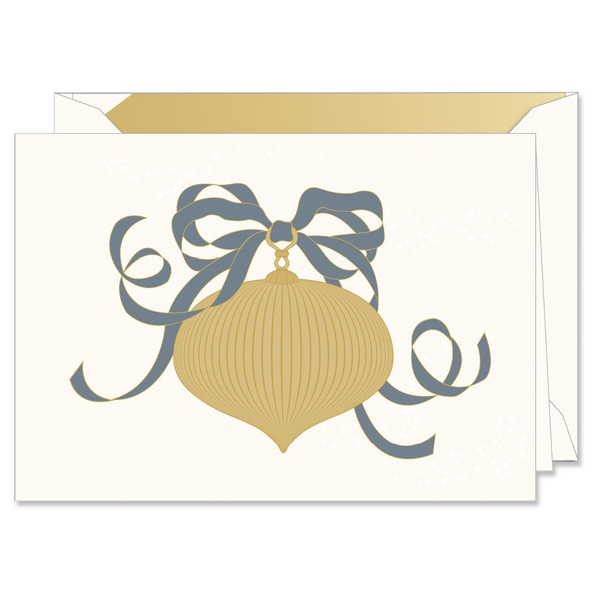 Engraved Pleated Ornament Holiday Greeting Cards Boxed Set