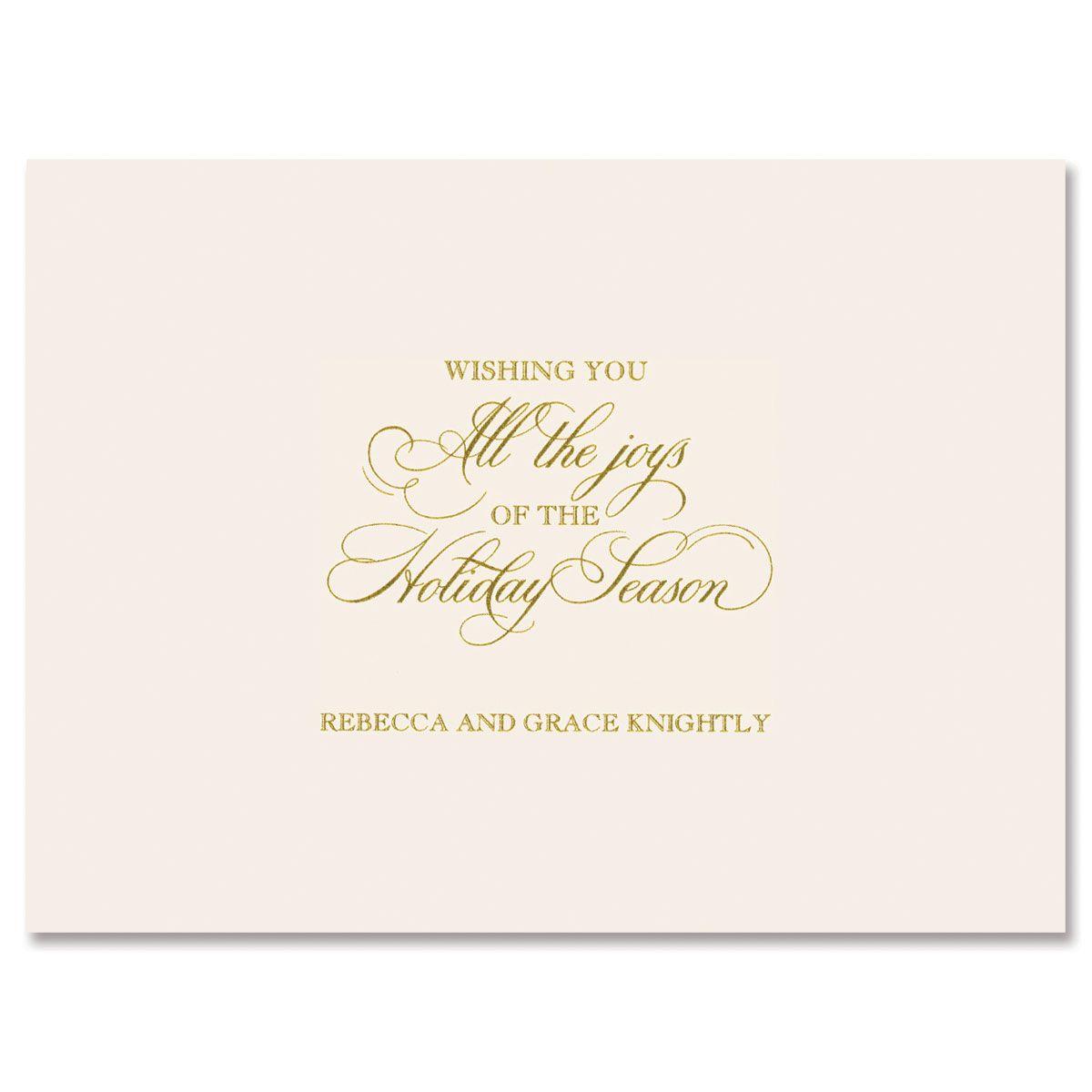 Golden Swirls Mounted Photo Card