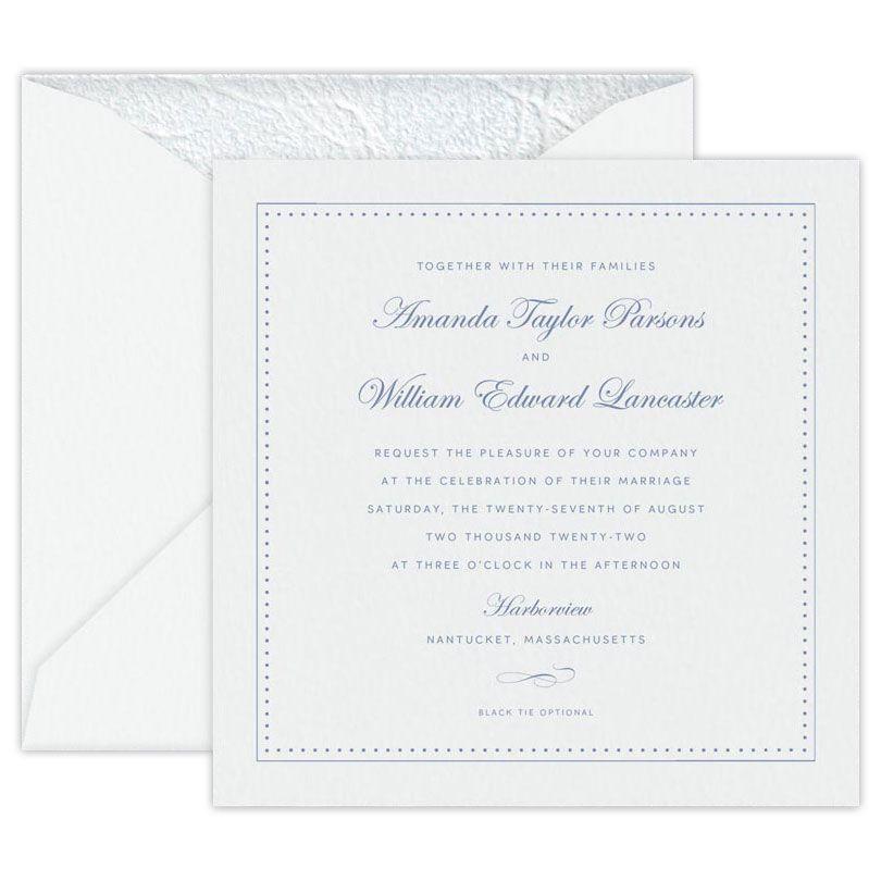 Seaside White Large Square Invitation