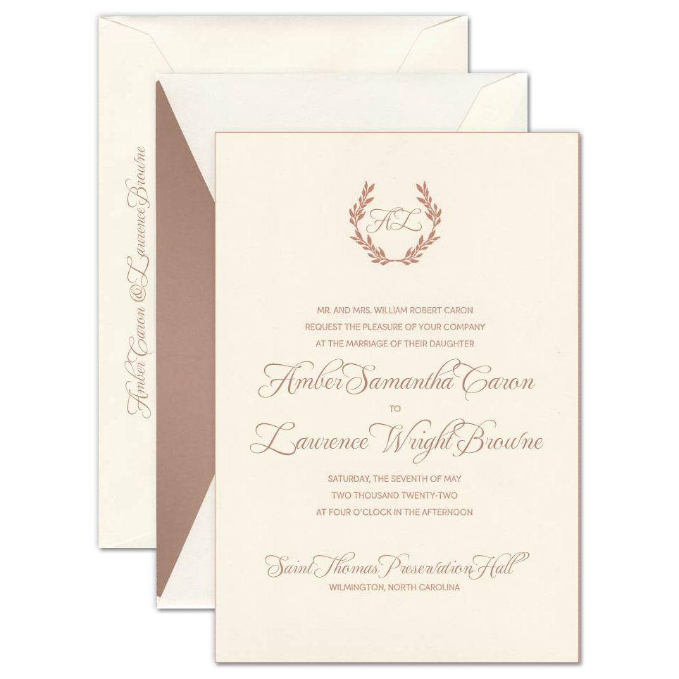 Daphne Soft White Invitation