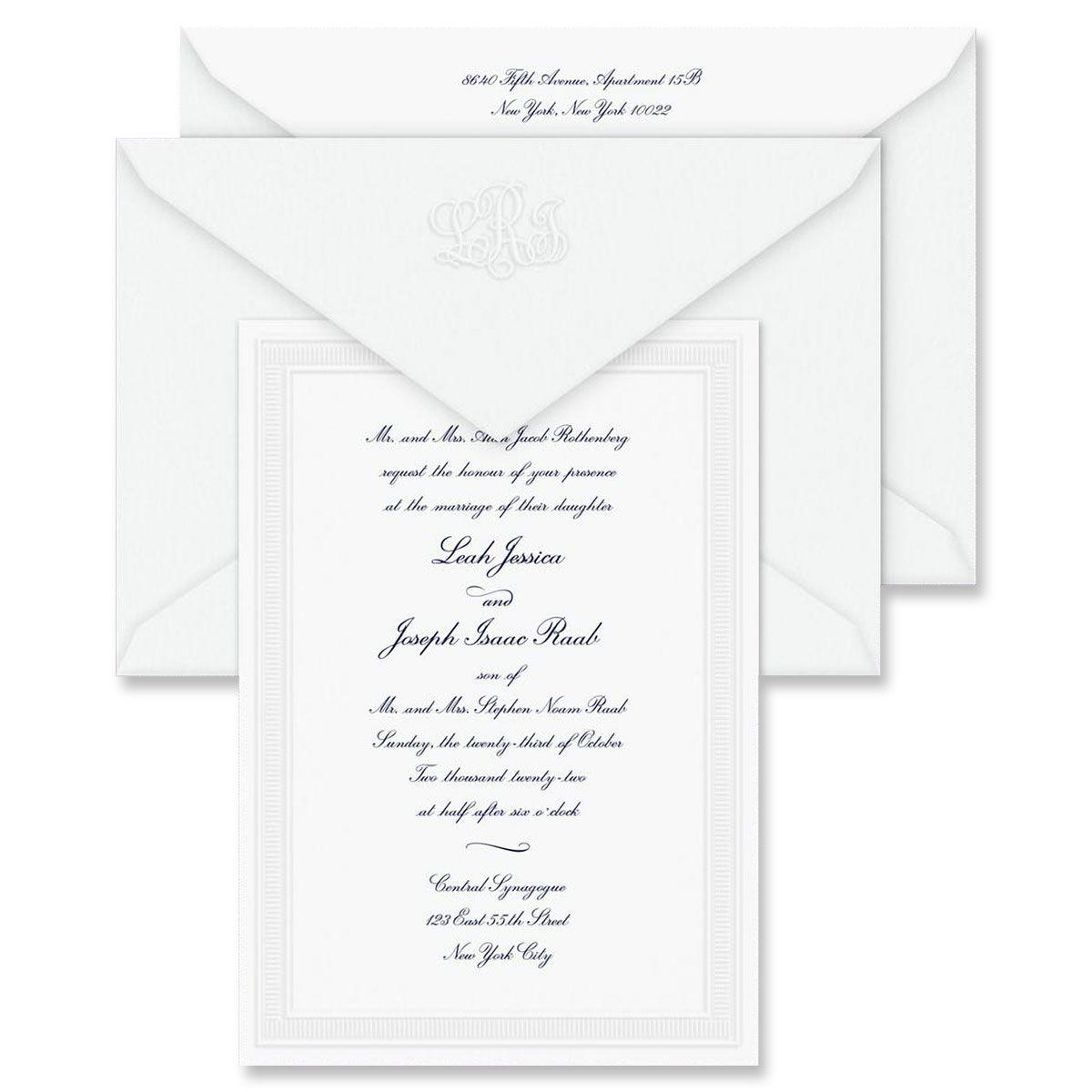 Embossed Frieze Invitation
