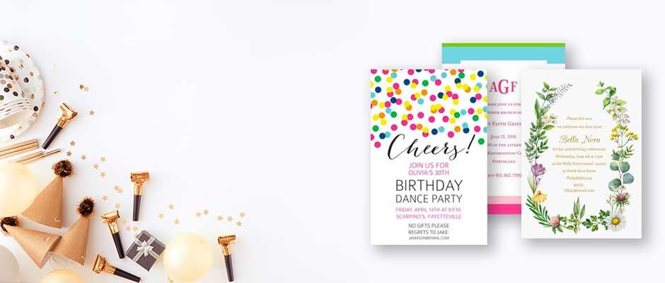 Shop Adult Birthday Invitations at Fine Stationery