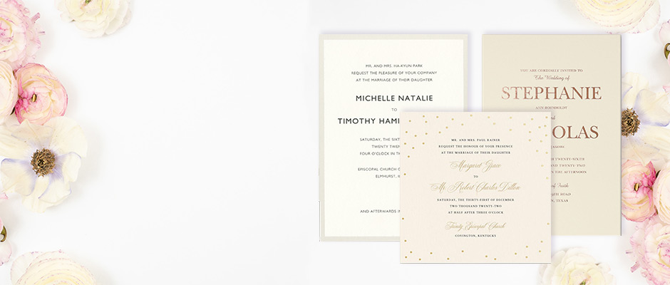 Shop Wedding Invitations at Fine Stationery