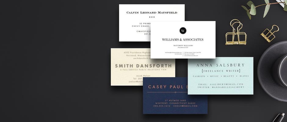Shop Business Cards at Fine Stationery